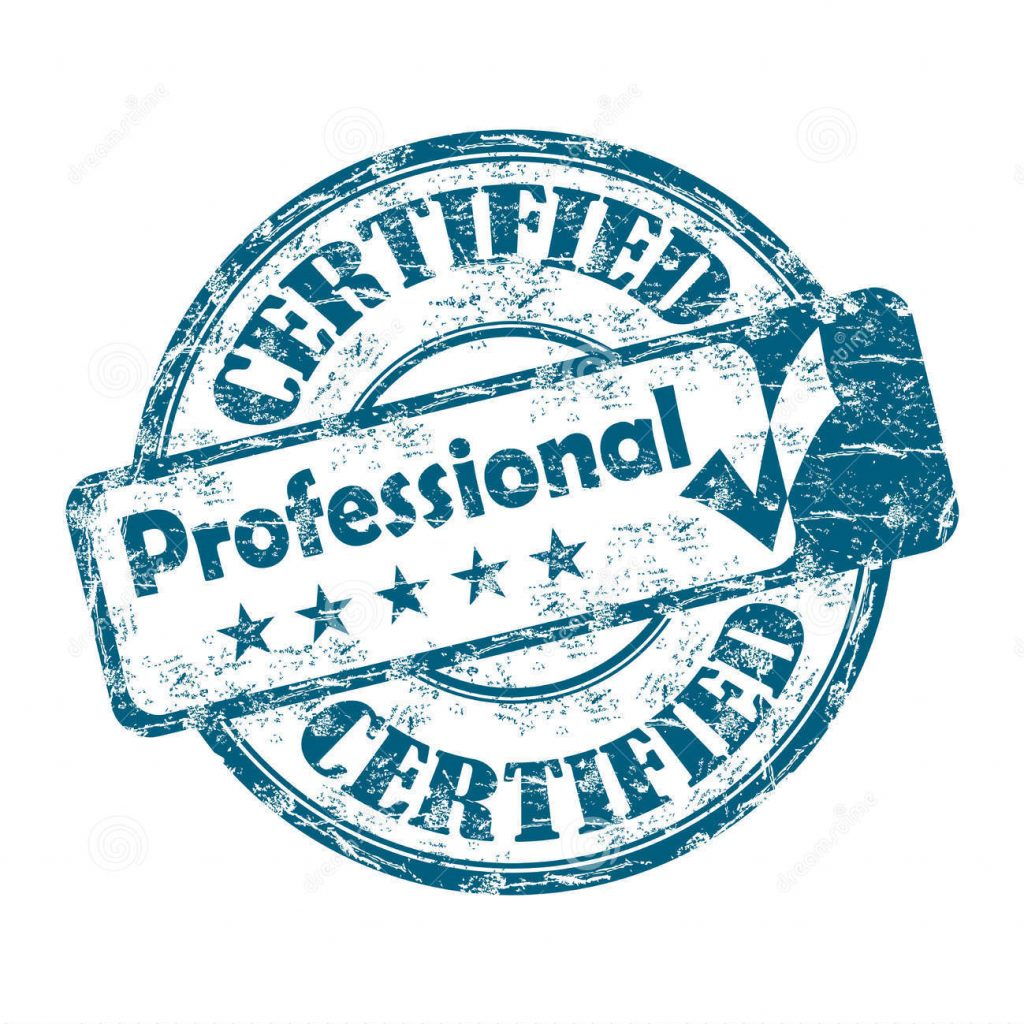 certified professional stamp